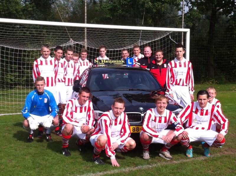Rijschool Heijmink sponsort A1 van SC Rijnland